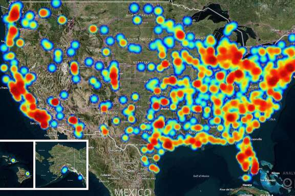 The heat map shown above reflects human trafficking cases reported to the   National Human Trafficking Hotline.   Human trafficking is the third largest crime industry in the world, generating an estimate of $150 billion annually.