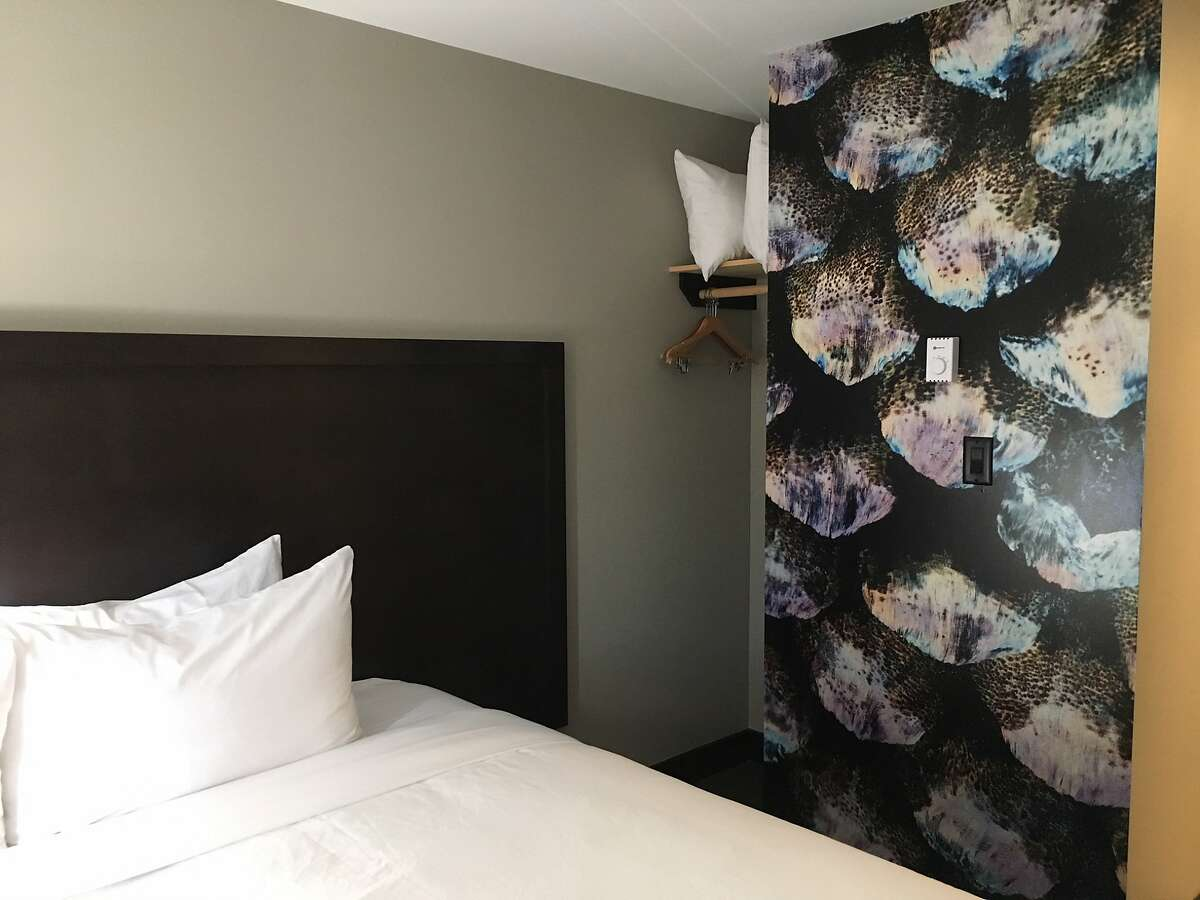 Striking images of Clayoquot Sound sea life add color to the subtle gray and black palette of the remodeled Tofino Resort & Marina in British Columbia.