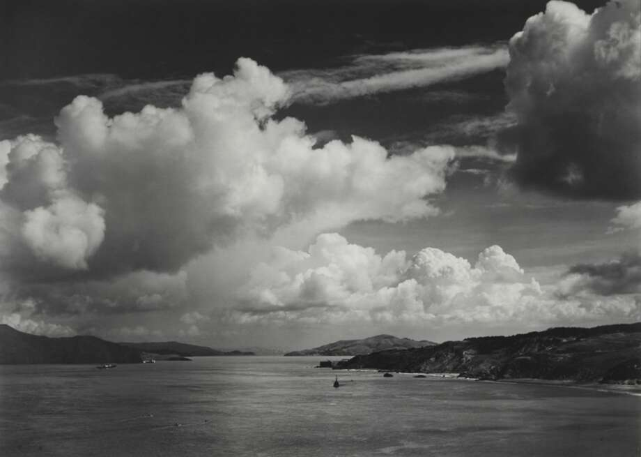 """Ansel Adams' """"The Golden Gate Before the Bridge"""" taken in 1932 captures a time when San Francisco was still a small city. The original print will go up for auction at Bonhams New York on Oct. 2, 2017. Estimated value: $150,000 - 250,000 Photo: Copyright The Ansel Adams Publishing Rights Trust"""