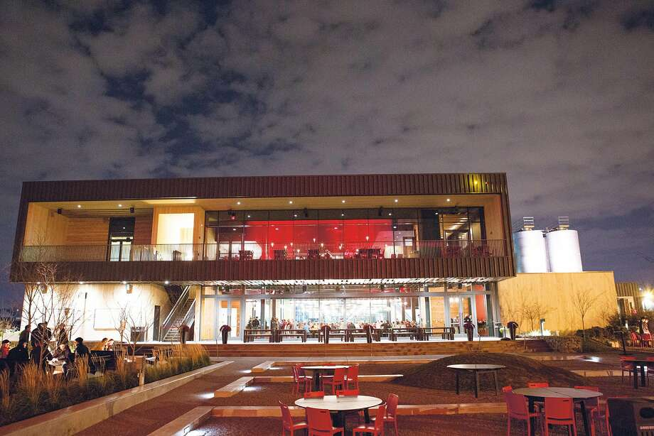 """Surly Brewing Co. in Minneapolis, one of 36 U.S. breweries featured in """"Lonely Planet's Global Beer Tour,"""" offers 20 beers on tap, a 300-seat beer hall with a large deck and lawn. Photo: Surly Brewing Co."""