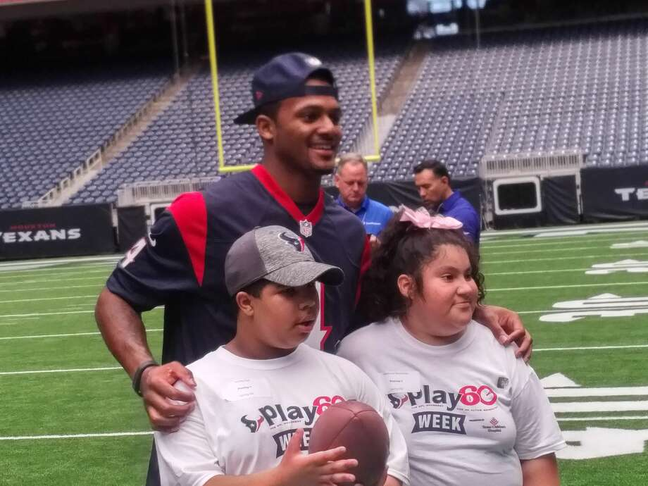 Texans quarterback Deshaun Watson was among the rookies who hosted an NFL Play 60 event for the Special Olympics of Texas. Photo: Aaron Wilson