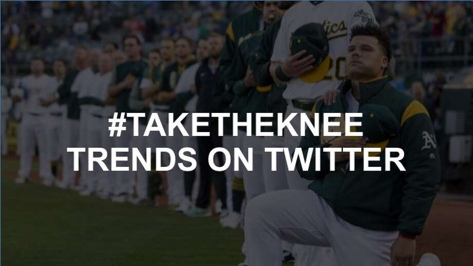 Click through the slideshow to see everything #TakeTheKnee.