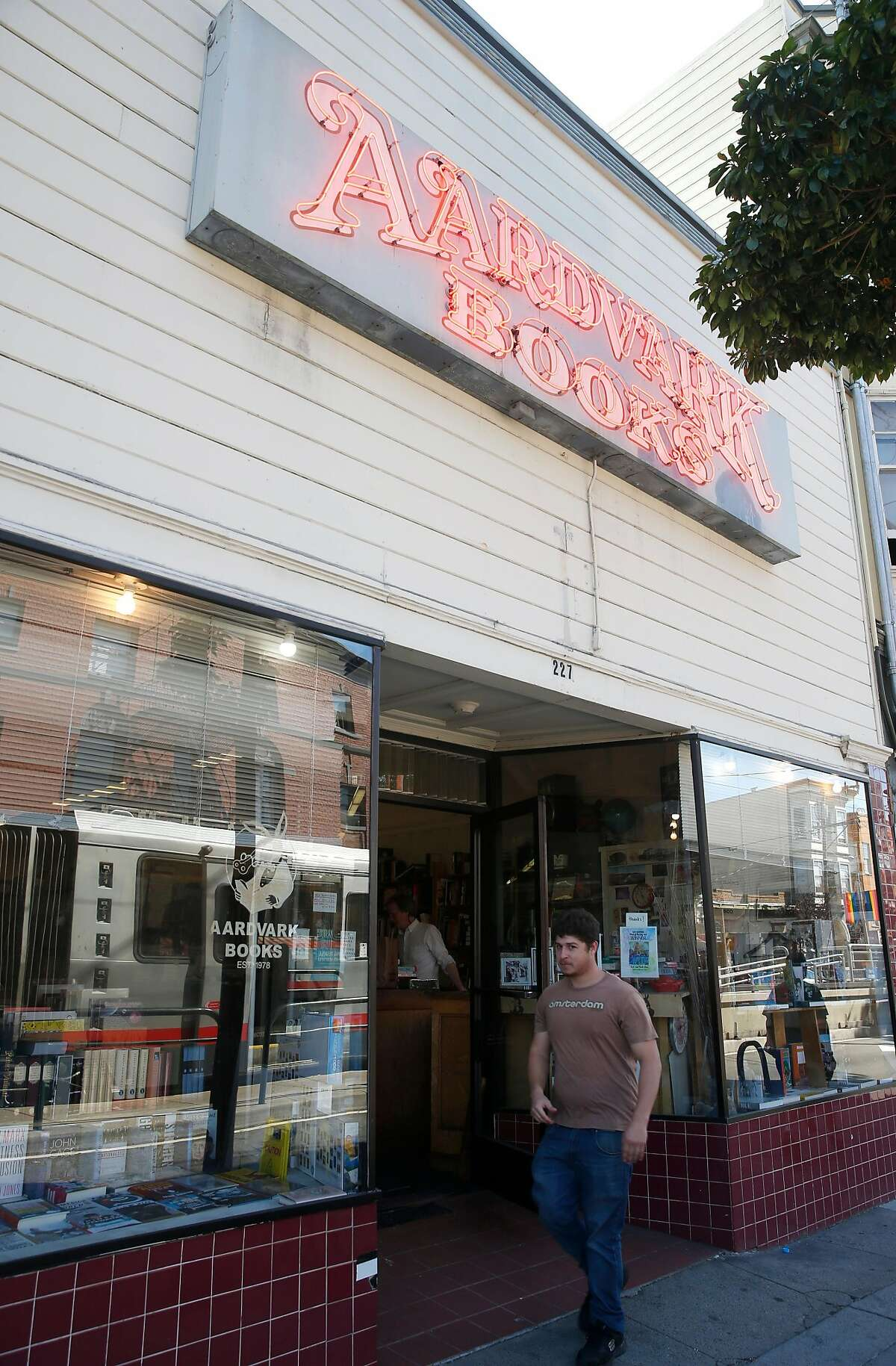 Aardvark Books is seen on Church Street in San Francisco, Calif. on Tuesday, Sept. 26, 2017. The used bookstore, which has been open since 1978, announced that it will have to shut down by the end of January 2018 after the landlord put the building up for sale.