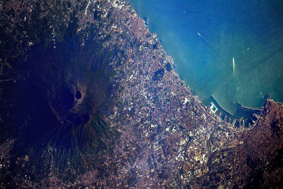 Original caption:Today #Naples marks the Feast of Saint Januarius, it is an annual public holiday in Naples. Photo: Sergey Ryazansky/NASA