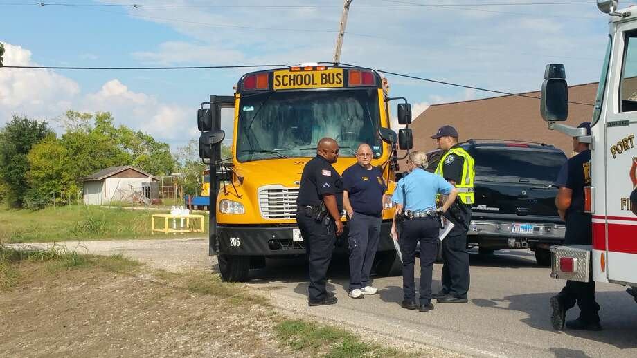 A Port Arthur ISD school bus and SUV collided in the 6200 block of Roosevelt Tuesday, September 26, 2017. Photo: Provided By Eric Williams