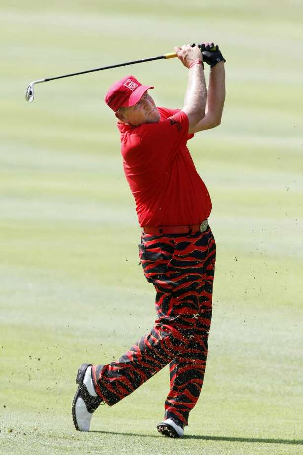 MEMPHIS, TN - JUNE 13: John Daly hits a shot during the final round of the St. Jude Classic at TPC Southwind held on June 13, 2010 in Memphis, Tennessee.  (Photo by John Sommers II/Getty Images) Photo: John Sommers II, Getty Images / 2010 Getty Images