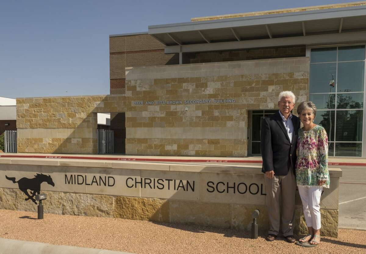 Eddie Lee, left, is retiring at the end of the school year after serving as Midland Christian School's superintendent for 42 years. His wife, Carol, is the school's development director. Their son, Jared, is slated to be the new