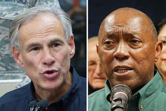 Gov. Greg Abbott and Houston Mayor Sylvester Turner