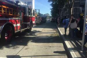 A car fire in the garage next to the Costco in the South of Market neighborhood of San Francisco prompted the evacuation of the store Tuesday afternoon.