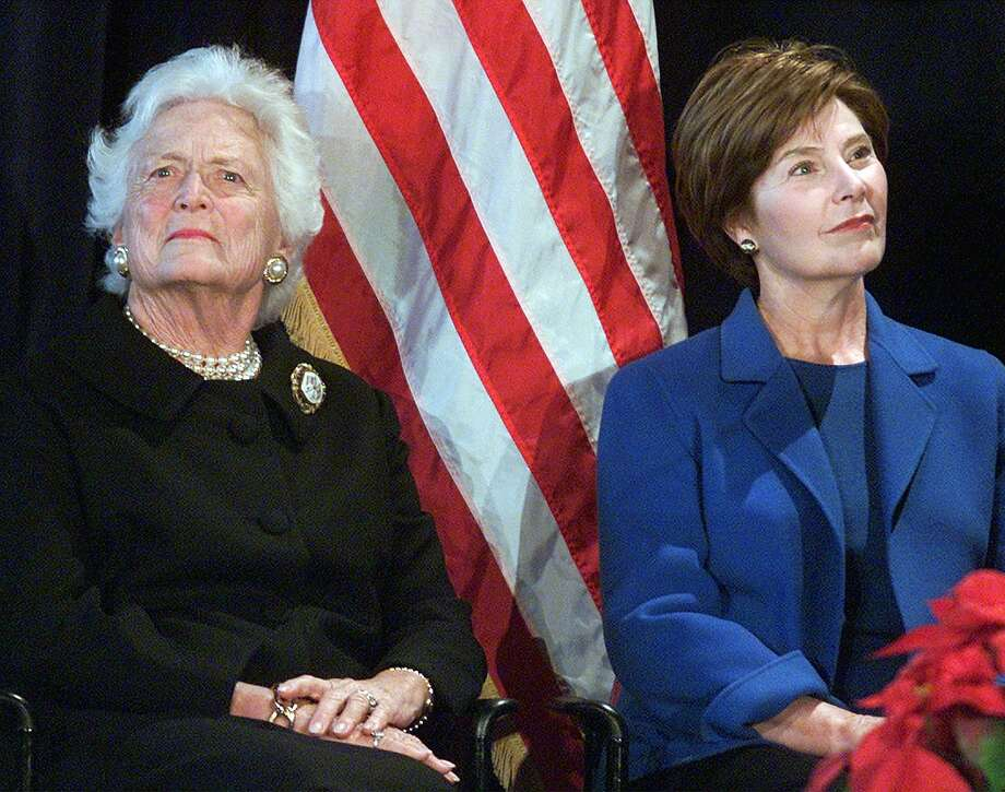 The foundations of former first ladies Laura and Barbara Bush have pledged a combined $2 million to help support education in schools and public libraries after Hurricane Harvey. Photo: Associated Press File Photo / AP
