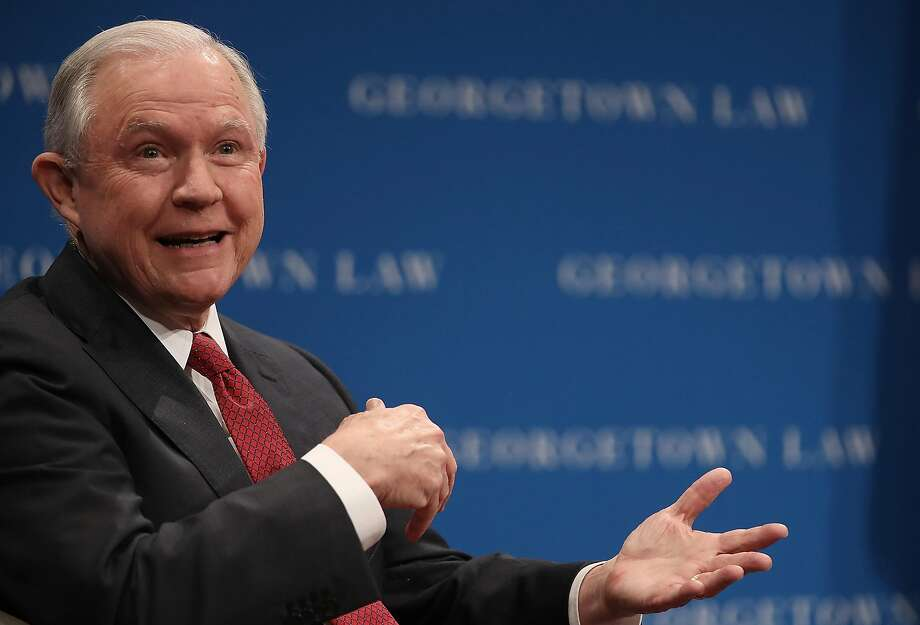 U.S. Attorney General Jeff Sessions speaks at the Georgetown University Law Center September 26, 2017 in Washington, DC. Sessions spoke on the topic of free speech on college campuses and took several questions following his remarks. (Photo by Win McNamee/Getty Images) Photo: Win McNamee, Getty Images