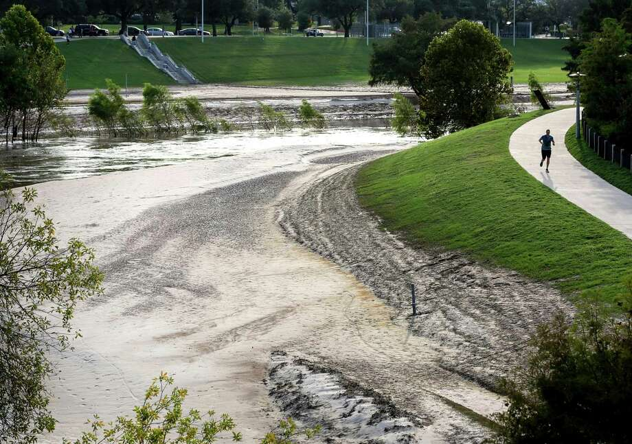 What was in all that sandy sludge? Photo: Jon Shapley, Houston Chronicle / © 2017 Houston Chronicle