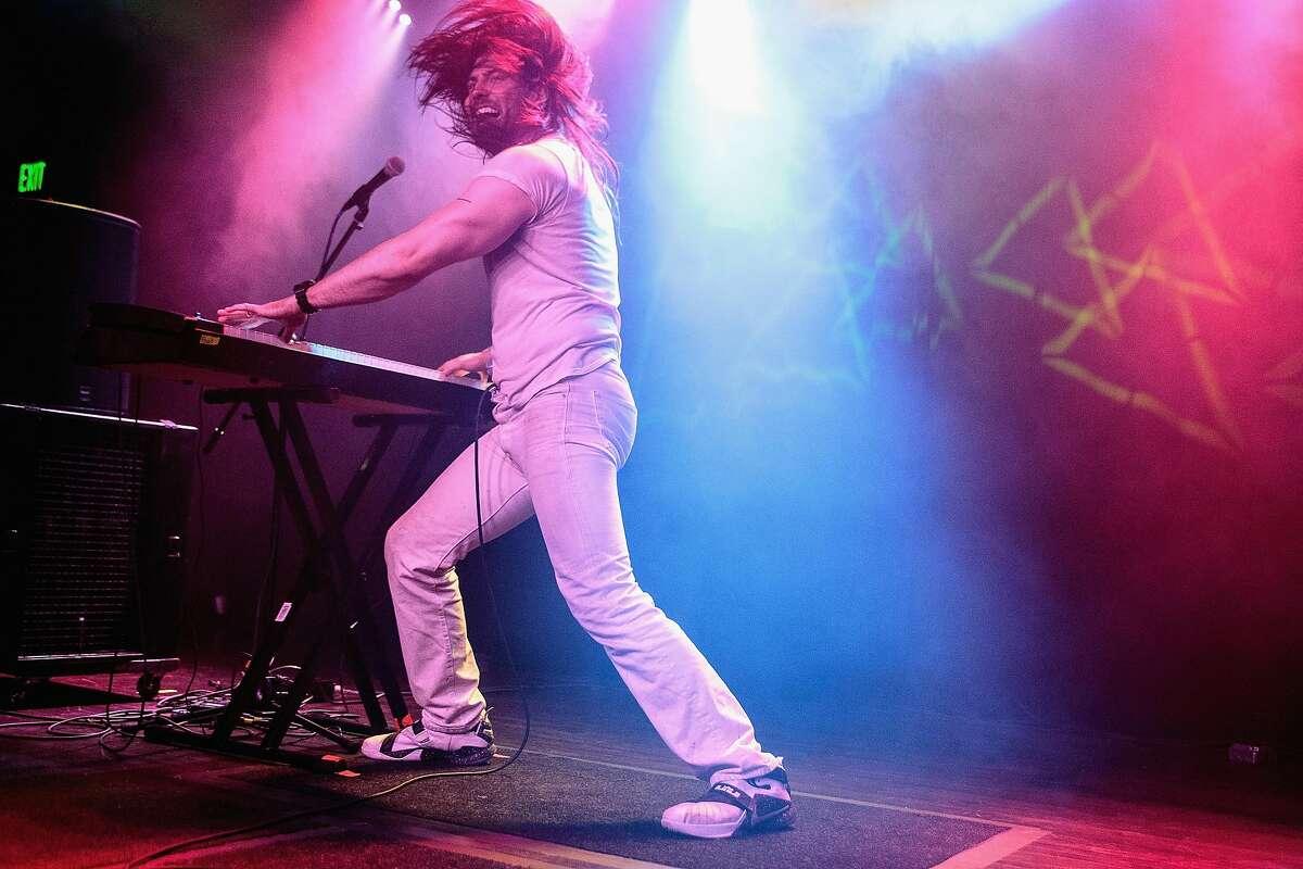 BIRMINGHAM, AL - SEPTEMBER 15: Andrew W.K. performs at Saturn Birmingham on September 15, 2015 in Birmingham, Alabama.
