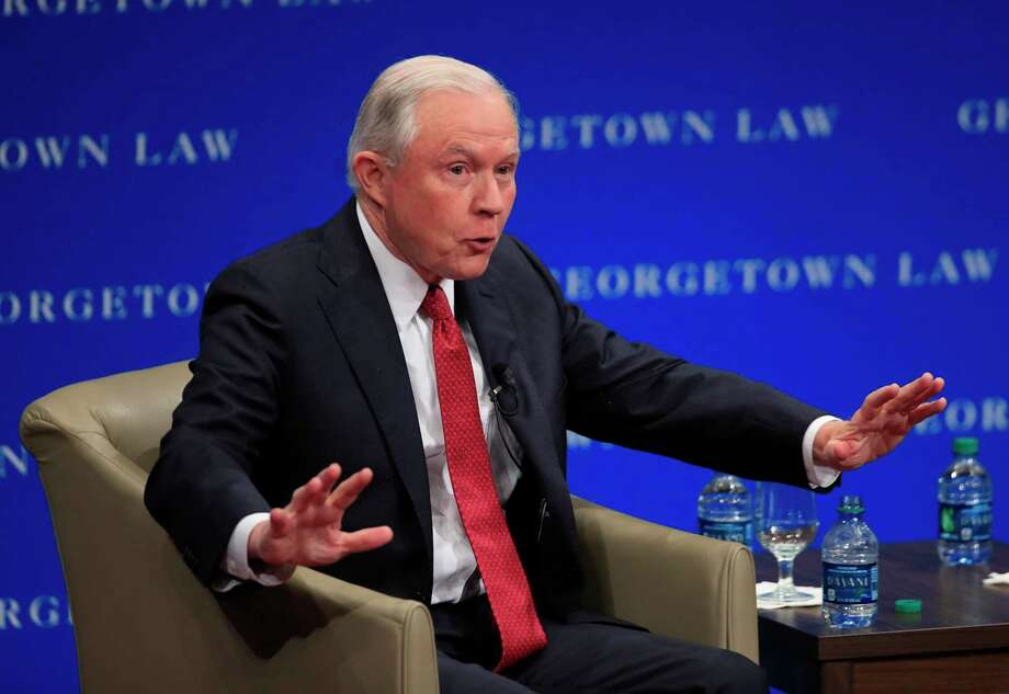 In a speech at Georgetown University, Attorney General Jeff Sessions said universities cave in to protesters' demands because of political correctness. Photo: Manuel Balce Ceneta, STF / Copyright 2017 The Associated Press. All rights reserved.