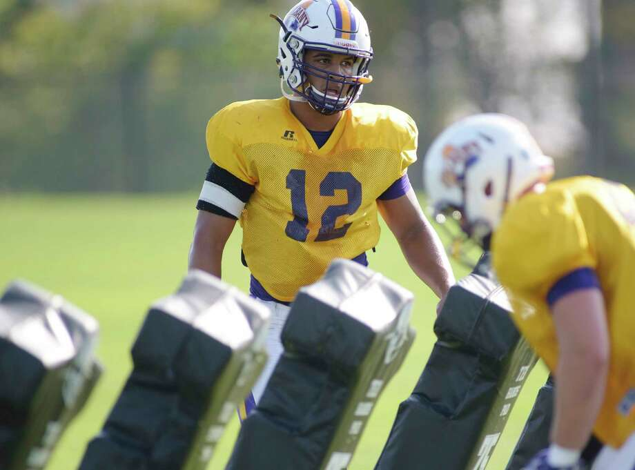 UAlbany sophomore linebacker Eli Mencer at practice on Tuesday, Sept. 26, 2017, in Albany, N.Y.   (Paul Buckowski / Times Union) Photo: PAUL BUCKOWSKI / 40041671A