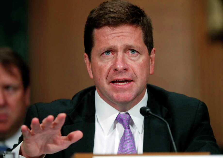 Securities and Exchange Commission Chairman Jay Clayton testifies before the Senate Banking Committee on Capitol Hill in Washington, Tuesday, Sept. 26, 2017. (AP Photo/Pablo Martinez Monsivais) Photo: Pablo Martinez Monsivais, STF / Copyright 2017 The Associated Press. All rights reserved.