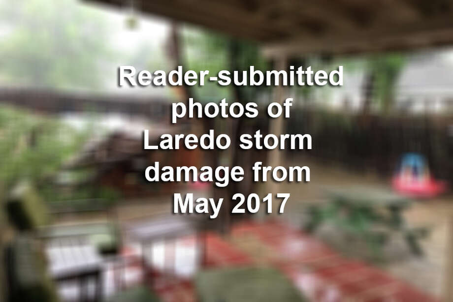 Click through this gallery to see reader-submitted photos of storm damage in Laredo from the May 2017 storm. Photo: LMTonline