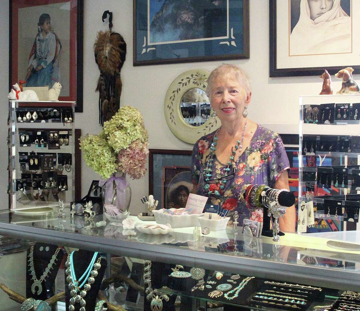 Marge Courtney at her store, Touch of Sedona, in downtown Ridgefield on Monday. Courtney opened a similar store last week in Bethel.