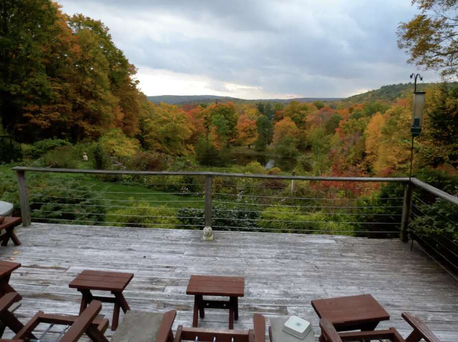 "New Hartford, CT. Torrington 2-room suite in country home. $99/night. ""On a 10-acre private estate overlooking a 1/2 acre pond, teaming with wildlife, high atop a hill with stunning panoramic views of distant mountains."" View full listing on Airbnb. Photo: Courtesy Of Airbnb"