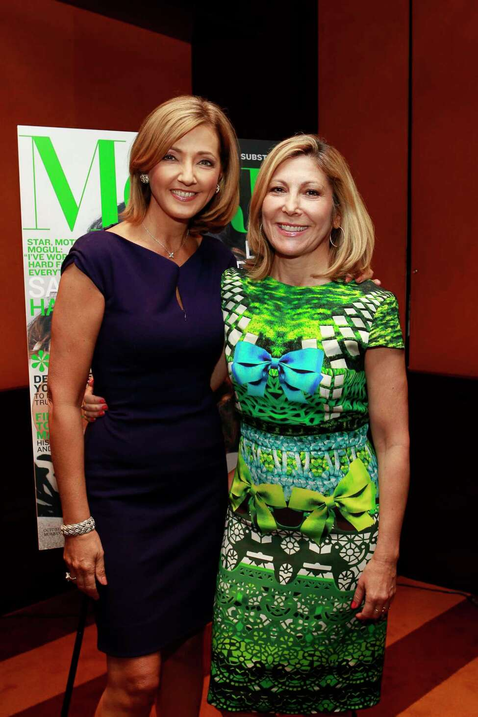 Click through the slideshow of longtime Capital Region news personalities.  Chris Jansing of MSNBC, who Capital Region audiences knew as Chris Kapostasy, with More magazine Editor in Chief Leslie Jane Seymour on Sept. 27, 2012 in New York.