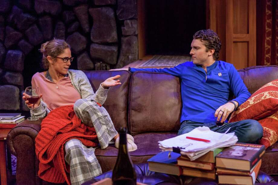 """Jenny Strassburg and Ben Williamson in """"Sex with Strangers"""" at Capital Repertory Theatre. (Capital Rep publicity photo by Douglas C. Liebig.) / x-default"""