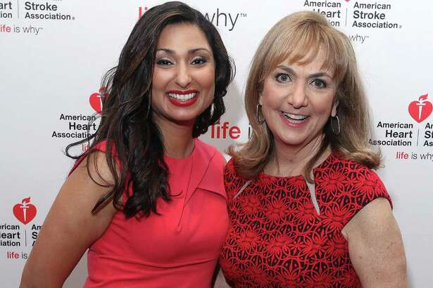 Colonie, NY - May 25, 2017 - (Photo by Joe Putrock/Special to the Times Union) - NewsChannel 13 anchor Subrina Dhami(left) and NewsChannel 13 anchor and event emcee Benita Zahn(right) during the 2017 Go Red for Women Luncheon, a benefit for the American Heart Association, at the Albany Marriott. ORG XMIT: 02