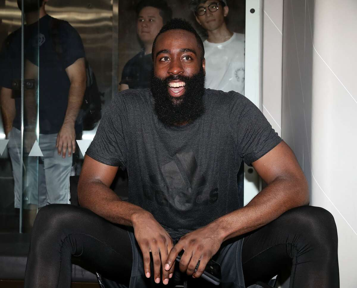 NEW YORK, NY - SEPTEMBER 11: James Harden attends Black Ops Basketball Session at Life Time Athletic At Sky on September 11, 2017 in New York City. (Photo by Shareif Ziyadat/Getty Images)
