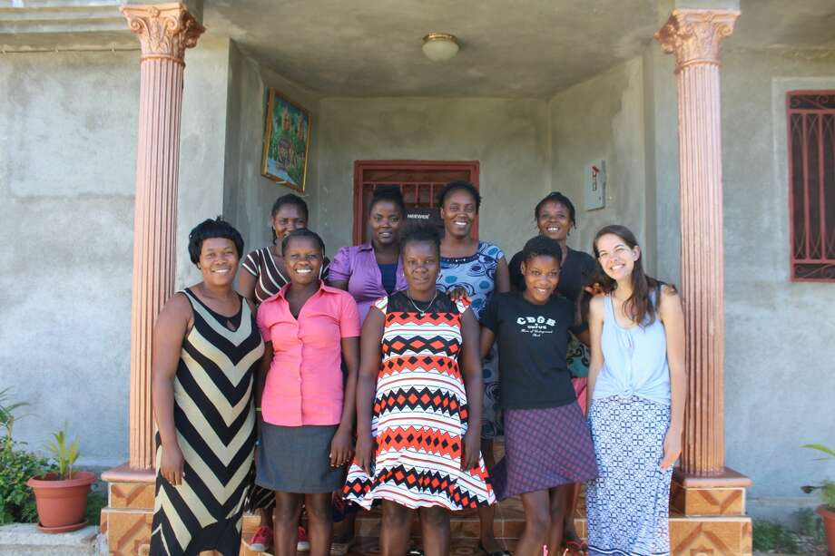 The first group of students at The Bird's Nest are seven women from Mare Rouge, who are all eager to learn a trade and support their families. Photo: KARIS JOHNSON