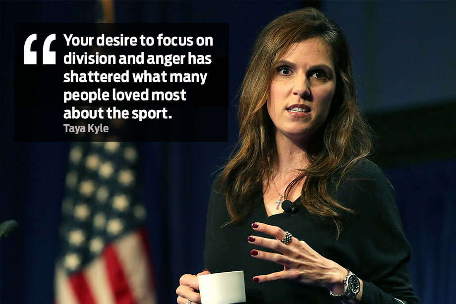 "Taya Kyle in letter to the NFL: ""Your desire to focus on division and anger has shattered what many people loved most about the sport."" Photo: Bob Owen /San Antonio Express-News"