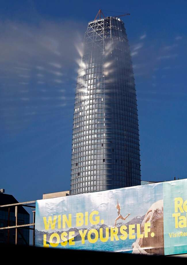 Salesforce Tower in San Francisco, seen in August. Photo: Scott Strazzante, The Chronicle