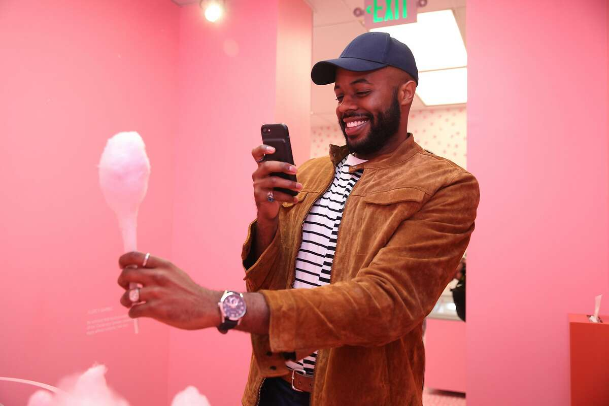 SAN FRANCISCO, CA - SEPTEMBER 15: Thomas Drew enjoys the Museum of Ice Cream opening party on September 15, 2017 in San Francisco, California. (Photo by Kelly Sullivan/Getty Images for Museum of Ice Cream)