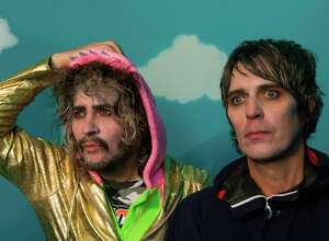 Wayne Coyne, left, and Steven Drozd of The Flaming Lips.
