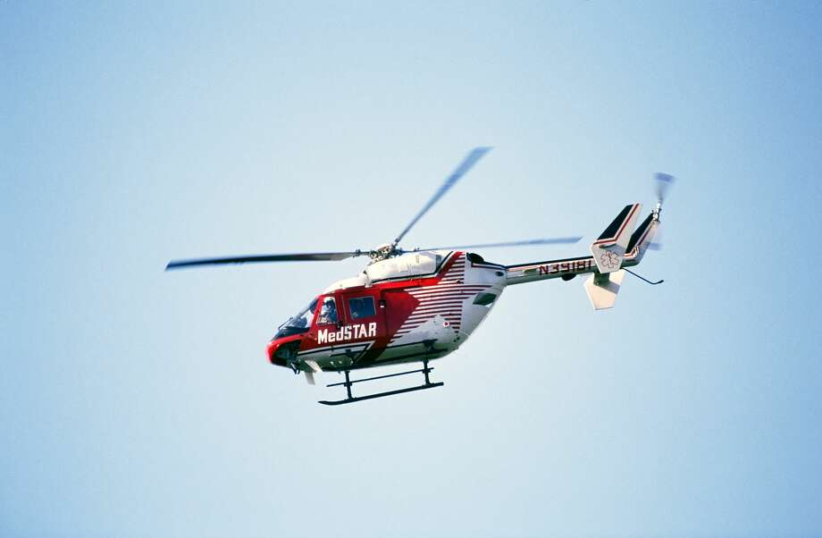 File photo of an air ambulance. A medical helicopter was called to Davis High School in Modesto, Calif. on Monday, Sep. 25, 2017 after a student ingested pot brownies. Photo: Jerry Wachter/Getty Images/Science Source