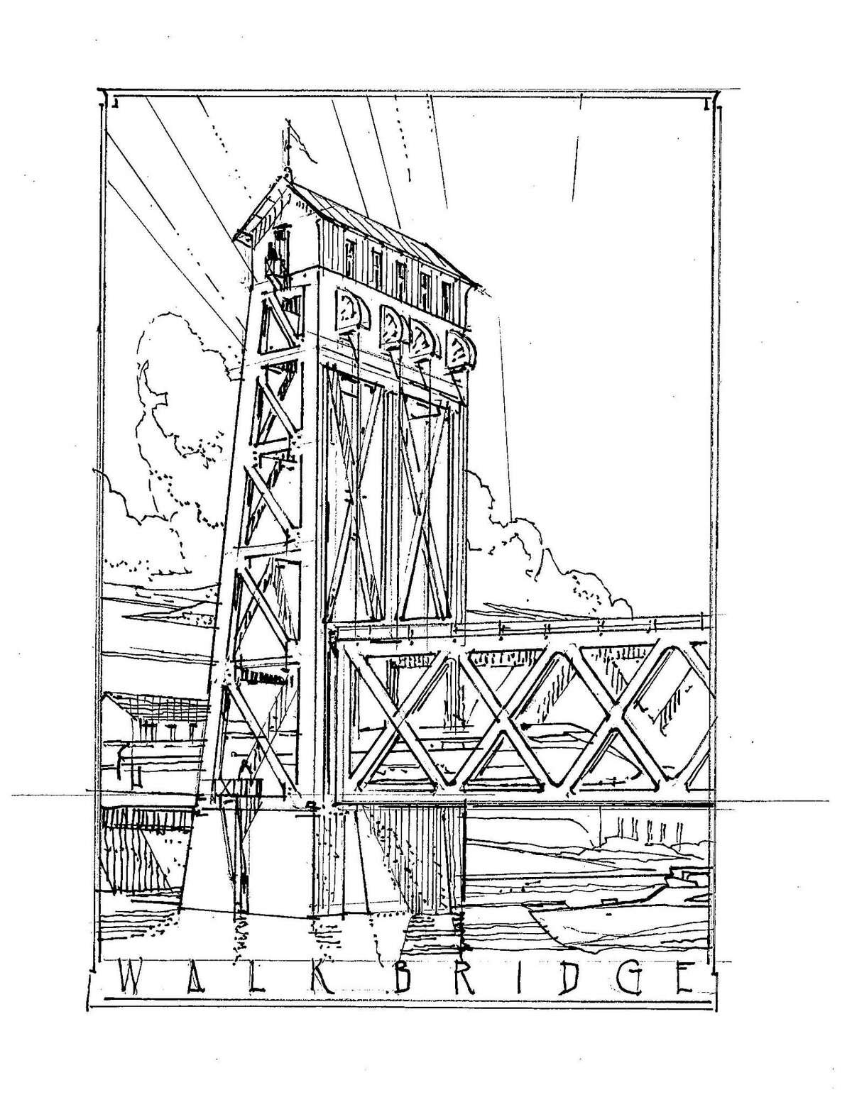 Bruce Beinfield, a South Norwalk architect who sits on the panel, has put forward one sketch showing a simple shed-like structure atop one of the bridge towers. He said the structure speaks to Norwalk?'s history as a working waterfront.