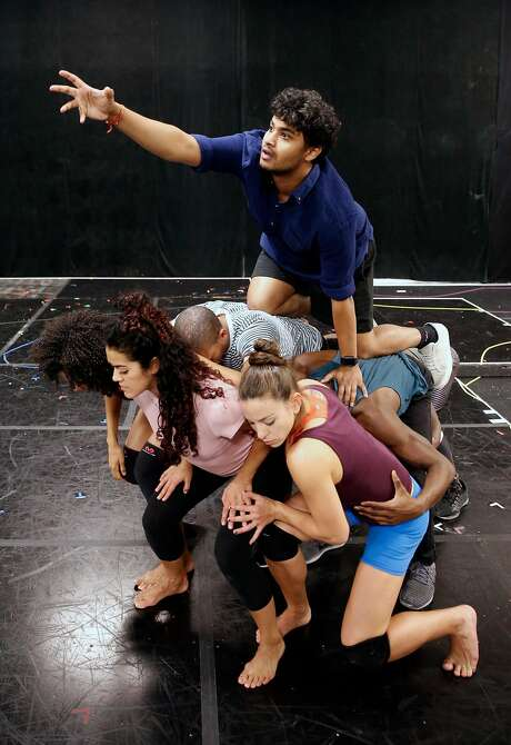 "Diluckshan Jeyaratnam and the cast rehearse the stage version of ""Prince of Egypt."" Photo: Michael Macor, The Chronicle"