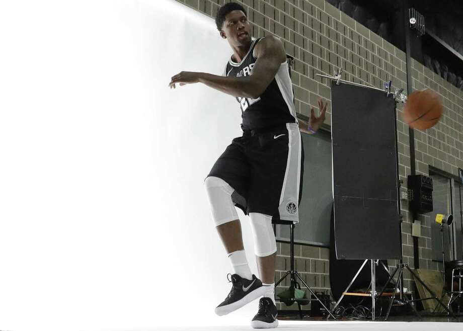 Spurs' Rudy Gay poses for photos during media day at the team's practice facility, Monday, Sept. 25, 2017, in San Antonio. Photo: Eric Gay /Associated Press / Copyright 2017 The Associated Press. All rights reserved.