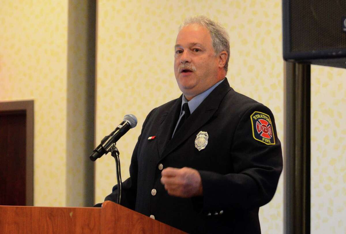 Retired Stratford firefighter Steve Lupinacci, current executive director of the Connecticut Firefighters Charitable Foundation and director of the Arthur C. Luf Children's Burn Camp, speaks about burn aftercare at Yale New Haven Health and Bridgeport Hospital's Issues in Trauma Care 2017: The Trauma of Burns at the Holiday Inn in Bridgeport, Conn., on Wednesday Sept. 27, 2017. The conference is intended for healthcare providers involved in preventing, treating and helping people recover from burn-related injuries.