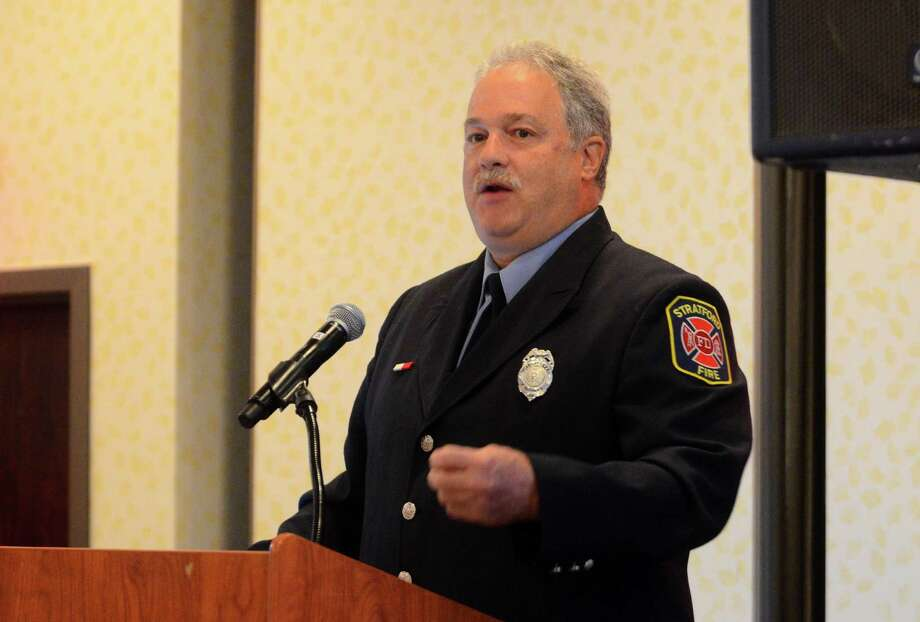 Retired Stratford firefighter Steve Lupinacci, current executive director of the Connecticut Firefighters Charitable Foundation and director of the Arthur C. Luf Children's Burn Camp, speaks about burn aftercare at Yale New Haven Health and Bridgeport Hospital's Issues in Trauma Care 2017: The Trauma of Burns at the Holiday Inn in Bridgeport, Conn., on Wednesday Sept. 27, 2017. The conference is intended for healthcare providers involved in preventing, treating and helping people recover from burn-related injuries. Photo: Christian Abraham / Hearst Connecticut Media / Connecticut Post
