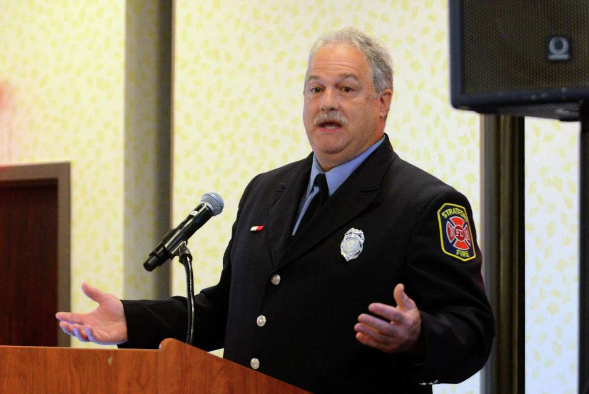 Retired Stratford firefighter Steve Lupinacci, director of the Arthur C. Luf Children's Burn Camp, speaks about Issues in Trauma Care on Wednesday. Sept. 27, 2017. The conference is intended for healthcare providers involved in preventing, treating and helping people recover from burn-related injuries.