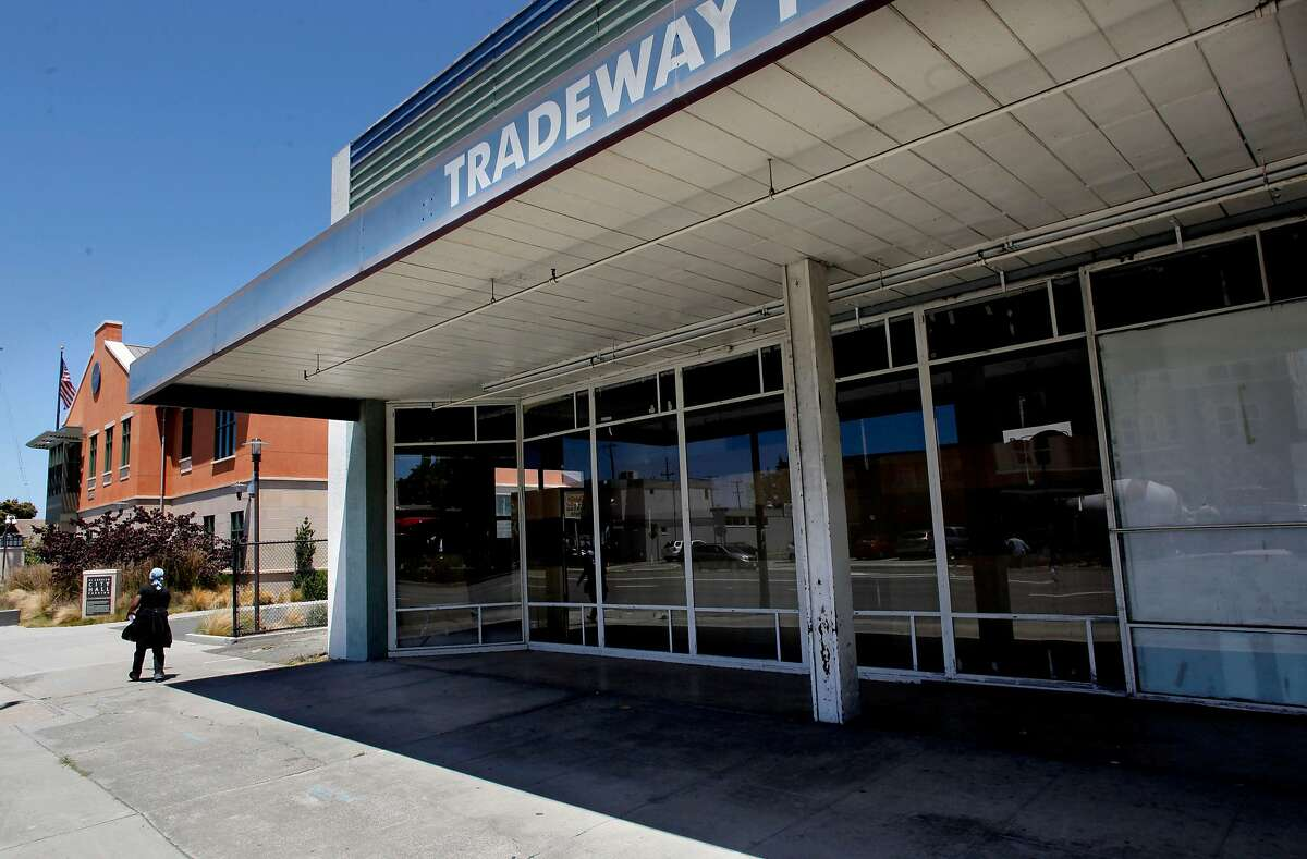 The Tradeway Furniture building, in El Cerrito, Ca., on Friday July 20, 2012, which is next door to City Hall, was to be turned into affordable senior housing with redevelopment funds, instead sits idle. The City of El Cerrito and the redevelopment Agency filed suit on June 12, 2012, against the Contra Costa county Auditor-Controller, the California Department of Finance and the california Board of Equalization, challenging a $1,756,794 payment demanded by the County auditor-controller on July 9, 2012.