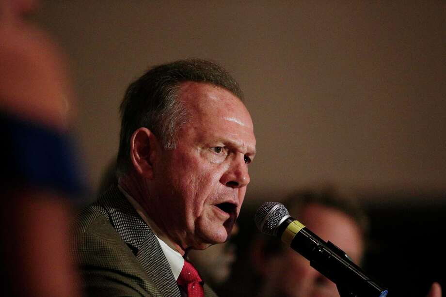Former Alabama Chief Justice and U.S. Senate candidate Roy Moore during speaks during his election party, Tuesday, Sept. 26, 2017, in Montgomery, Ala. Photo: Brynn Anderson, STF / Copyright 2017 The Associated Press. All rights reserved.