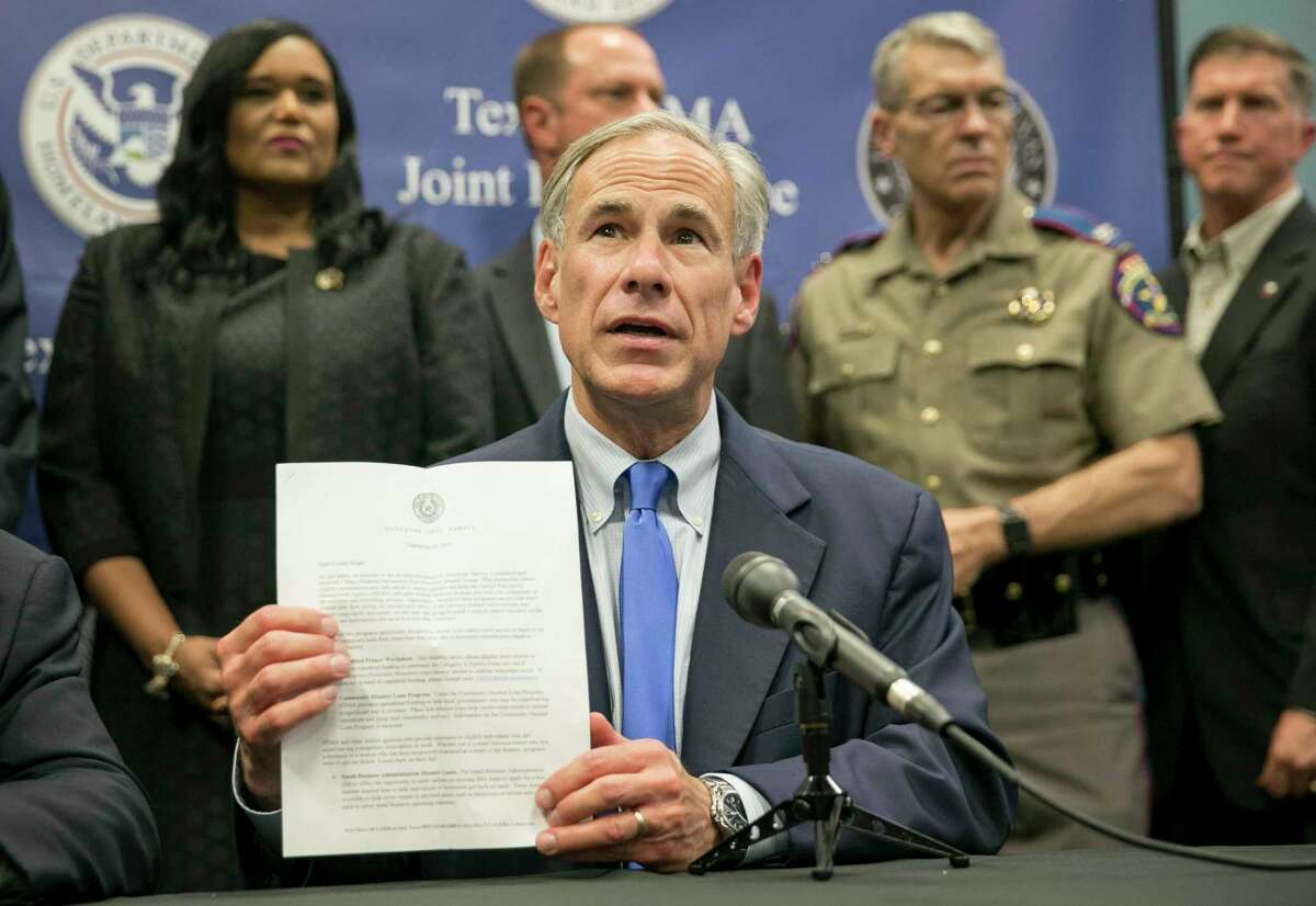 Faced with $150 billion in damages from Harvey, Gov. Greg Abbott has made it clear he intends to press Washington to pay for as much as the feds can, as quickly as possible.