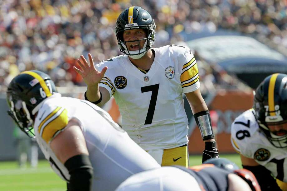 Pittsburgh Steelers quarterback Ben Roethlisberger (7) calls a play during the second half of an NFL football game against the Chicago Bears, Sunday, Sept. 24, 2017, in Chicago. (AP Photo/Nam Y. Huh) Photo: Nam Y. Huh, STF / Copyright 2017 The Associated Press. All rights reserved.