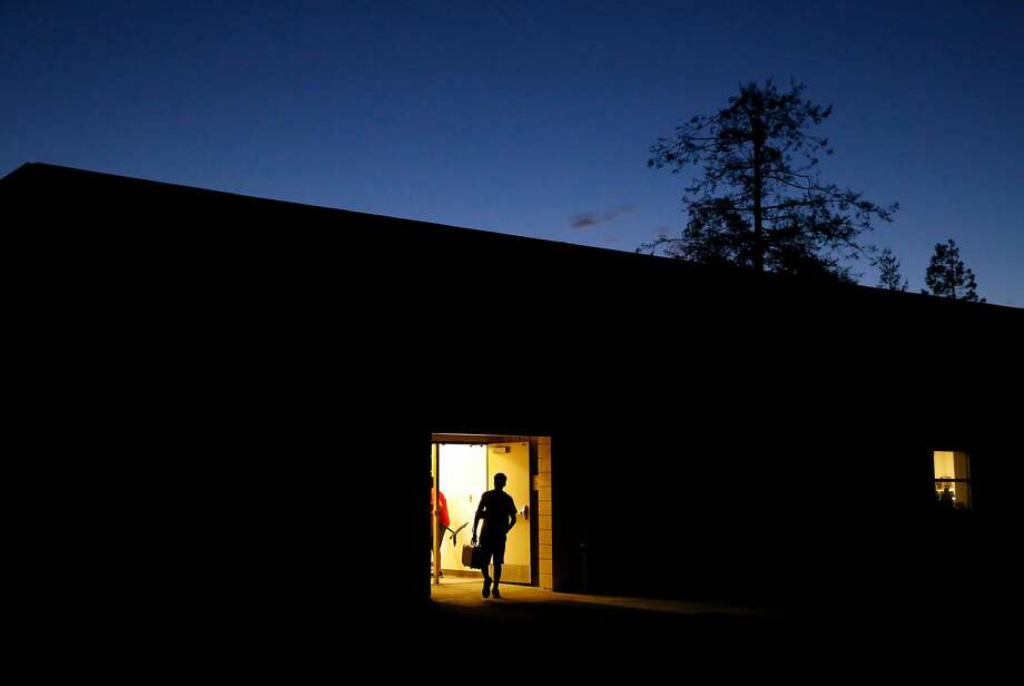 Band members leave at the end their 12-hour rehearsal. Photo: Leah Millis, The Chronicle