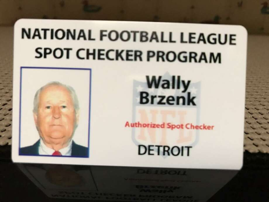 Wally Brzenk's credential as an NFL spot checker for the Detroit Lions Photo: Photo Provided