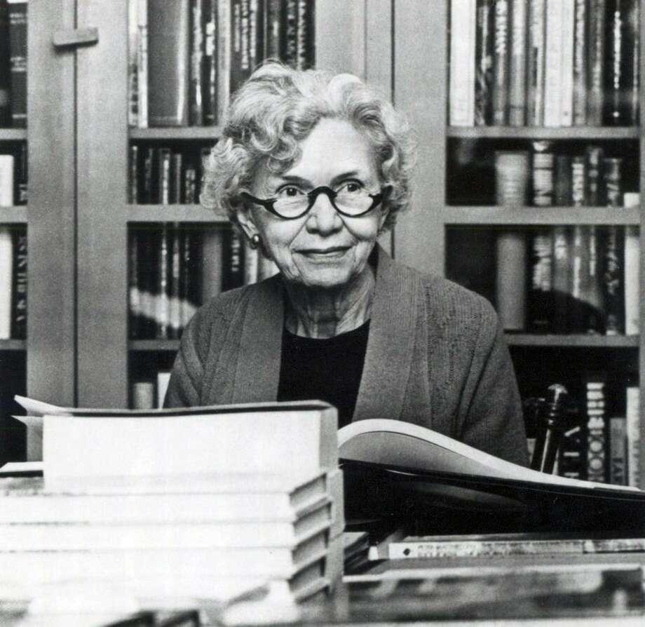 Florence Rosengren is shown at her desk at Rosengren's Books in San Antonio. Photo: Courtesy Photo