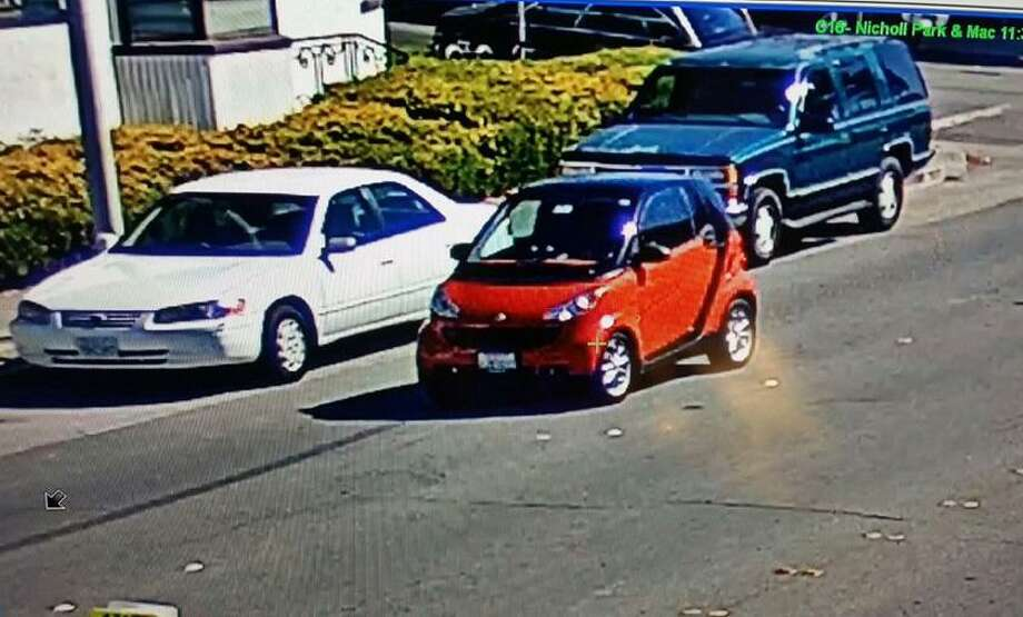 Richmond Police are looking for the driver of a red Smart Car that stuck 3-year-old boy who darted into traffic on Sept. 27, 2017. The hit-and-run happened at 11:30 am. in the 2700 block of Macdonald Avenue, when the child squirmed away from his mother as she tried to put him into their parked car, said Lt. Felix Tan. Photo: Richmond Police Department / Richmond Police Department / Richmond Police Department