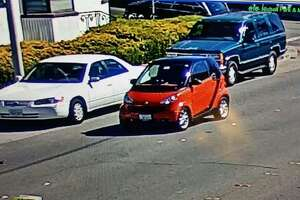Richmond Police are looking for the driver of a red Smart Car that stuck 3-year-old boy who darted into traffic on Sept. 27, 2017. The hit-and-run happened at 11:30 am. in the 2700 block of Macdonald Avenue, when the child squirmed away from his mother as she tried to put him into their parked car, said Lt. Felix Tan.