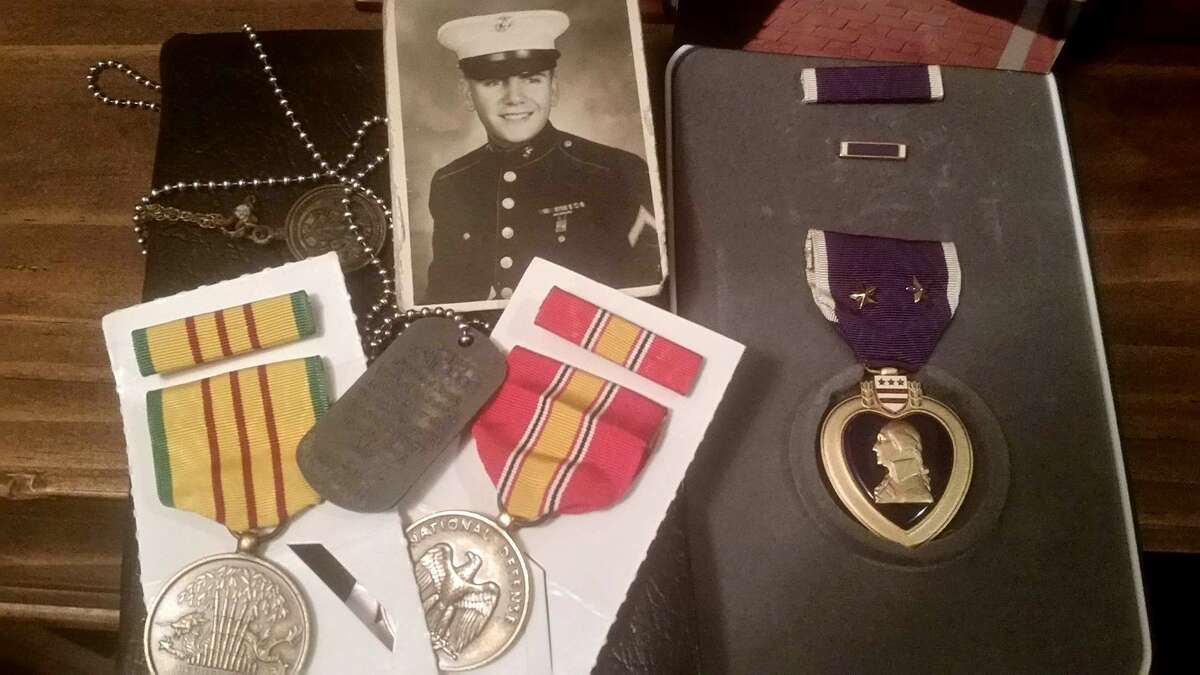 Scott Coyle, 67, was found in his Silsbee trailer on Sept. 07, 2017 having died in the floodwater caused by Tropical Storm Harvey. His daughter, Amanda Lee Scott Parker, learned that the Vietnam War veteran was a Purple Heart recipient. Photos provided by Amanda Lee Scott Parker.