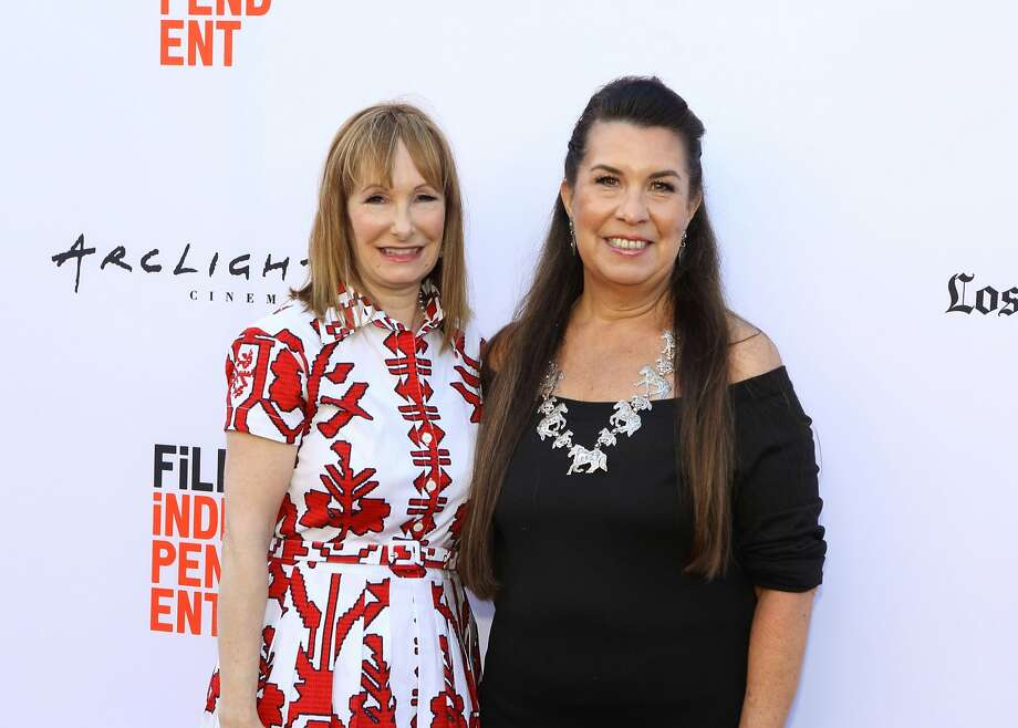 "Superproducer Gale Anne Hurd (left) at the premiere of ""Mankiller,"" with director Valerie Red-Horse. Photo: Valhalla Entertainment"